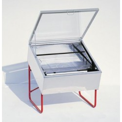 SCERATRICE SOLARE GRANDE INOX 100x100 cm.
